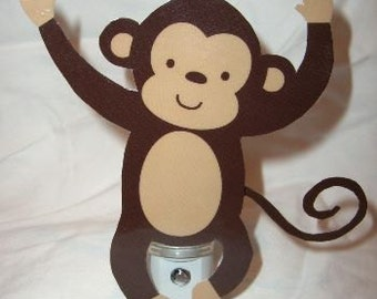 Adorable Jungle Monkey Nursery Night Light