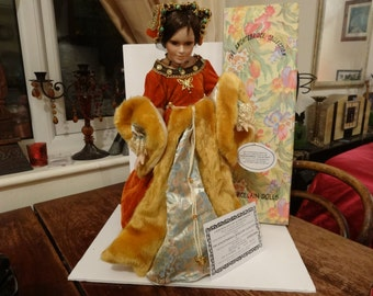 bisque procelain doll lady katherine howard one of henry IIIV wives no.83 of only 320 ever made