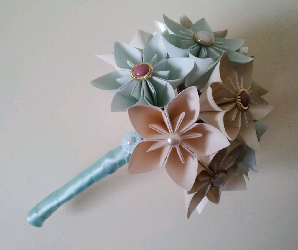 items similar to paper flower origami wedding bouquet