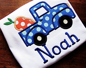 Carrot Truck Easter Applique Shirt