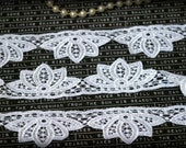 White Venice Lace for Bridal, Applique Trim for Jewelry, Appliques, Sewing, Crafting LA-048