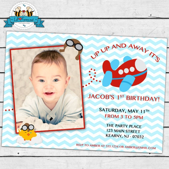 Items Similar To Airplane Birthday Invitation: Sabrina V. On Etsy