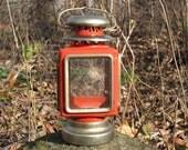 RESERVED for John Red & Antique Gold  Lantern