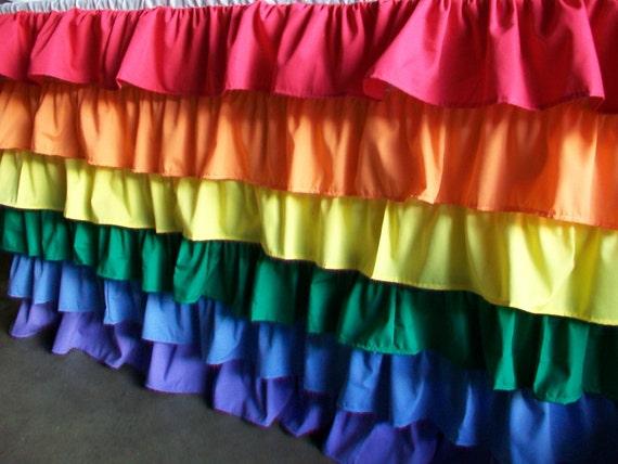 Clearance Sles: 5 Foot Ruffles Tablecloth in Rainbow/Circus Theme