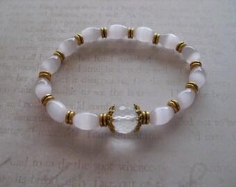Pink mexican opal bracelet