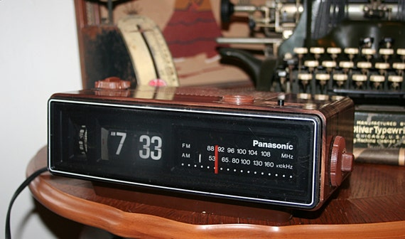 Working Vintage Panasonic Rc 6030 Flip Clock Am Fm Alarm Clock