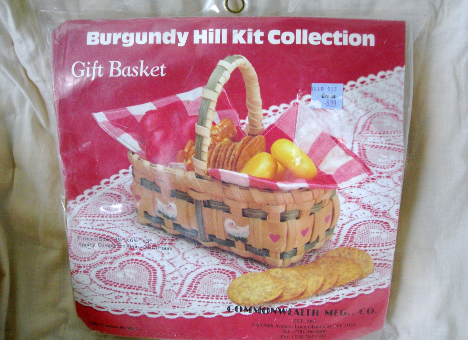 Basket Weaving Supplies And Kits : Vintage s burgundy hill kit basket weaving craft