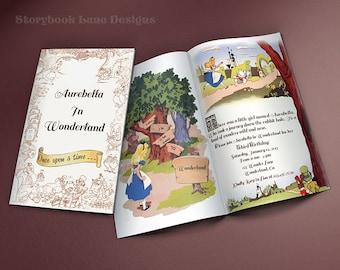 Alice In Wonderland Storybook Birthday Invitation-Design Fee