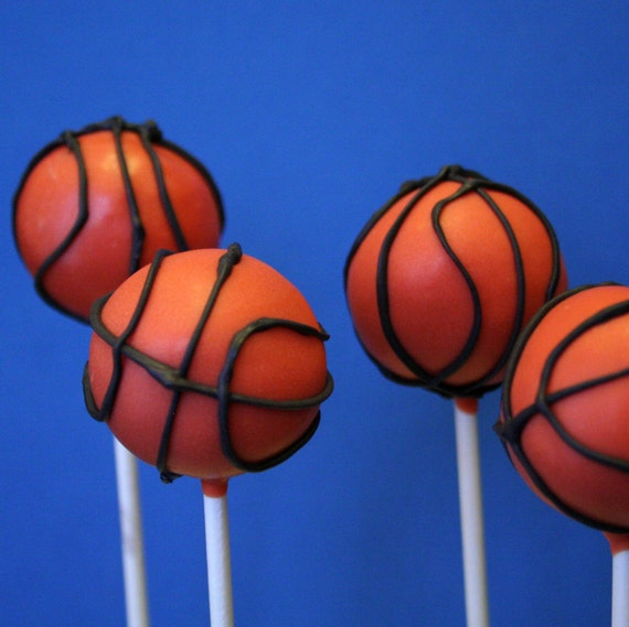 basketball cake pops items similar to 12 basketball cake pops for nba college 1513
