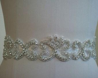 Wedding Belt, Bridal Belt, Sash Belt, Crystal Rhinestone  - Style B20004