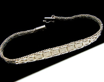 Vintage Italian Sterling Silver Bracelet Marked Italy 925 Dainty 11.8 Grams