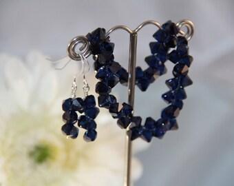 Swarovski Crystal Cobalt Blue Rock Candy Earrings