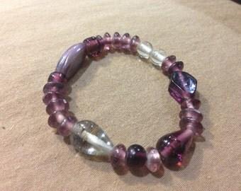 Purple Beaded Bracelet One-of-a-Kind Beaded Bracelets- PURPLE