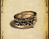 Bam02 Medieval ring duol wedding ring - Sterling silver 925