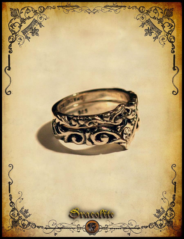 Bam02 Medieval ring duol wedding ring Sterling silver 925