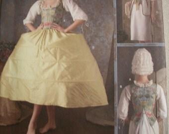 Simplicity  3635 Misses (Sizes KK 8,10,12,14) 18th Century Undergarments