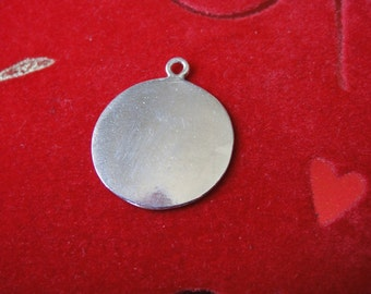 925 Sterling Silver Blank Discs - 925 stamping tags, blank round disc, blank disc, blank charm,  blank round disc, silver disc