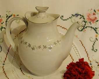 Vintage Royal Doulton Coffee Pot, Cadence Transluscent  Fine Bone China