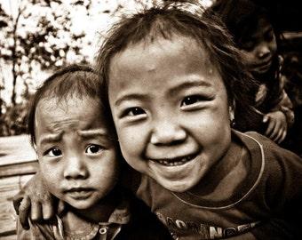 Laos - Village Kids (8 x 10 photograph print)