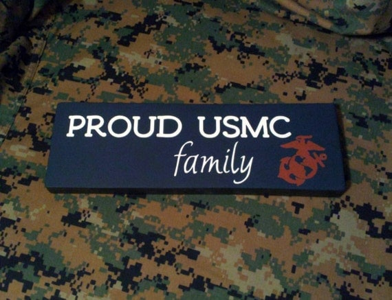 Wood Sign Proud Usmc Family Marine Corps