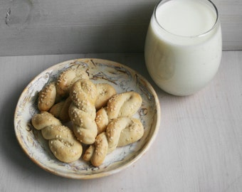 Greek Cookies with Sesame Seeds - Koulourakia (TWO DOZEN)