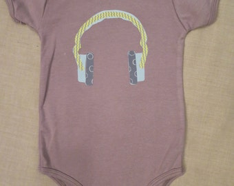 Hey Mr. DJ- blue headphones Onesies