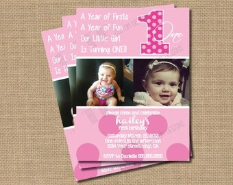 Everything One 1st Birthday Invitation - 5x7