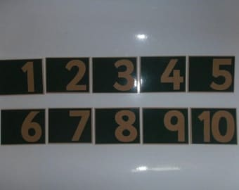 Sandpaper Numerals, Number Symbols 1-10, Counting and Number Recognition