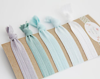 New Hair Ties - Ocean Blue Ombre - Hair Ties - Set of 5