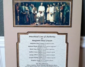 11x14 Priesthood Line of Authority -  MAT ONLY