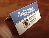 DIY Printable Instagram Table Card