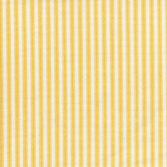Yellow Stripe Fabric Decorative Fabric Yellow And White