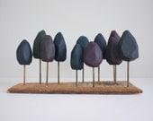 RESERVED - Dark moody forest, handmade miniature in deep jewel tones - 2of2