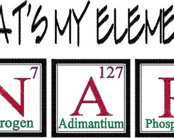 Periodic table joke etsy periodic table joke design nap embroidery design urtaz Gallery