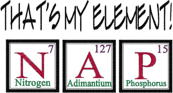 Periodic table joke design nap embroidery design from periodic table joke design nap embroidery design from mybabeinthehood on etsy studio urtaz Gallery