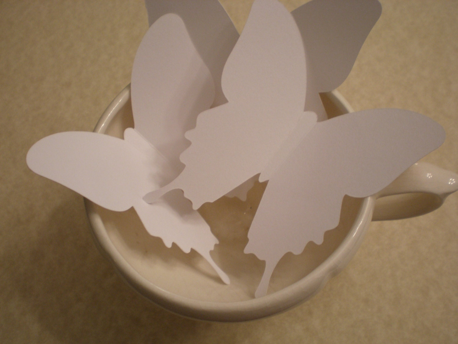 12 extra large white butterfly die cut butterfly punch paper for White paper butterflies