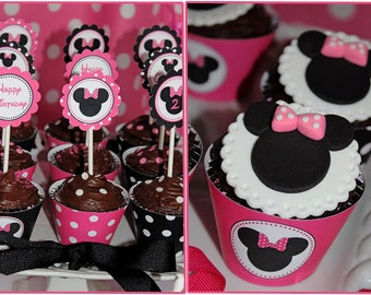 SALE Sale  DIY Minnie Mouse Pink Deluxe PRINTABLE  birthday party package Huge Party pack