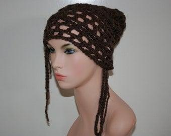 No: 21 Freeform crochet hat, wearable art, OOAK