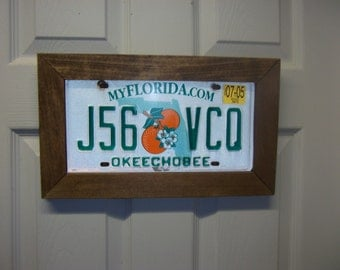 License Plate Wall Frame