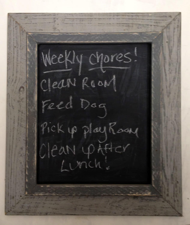 Home Decor Chalkboard: Framed Chalkboard. Home DecorWedding Decor By