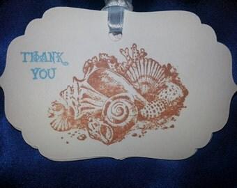 100-THANK YOU TAGS  Seashells