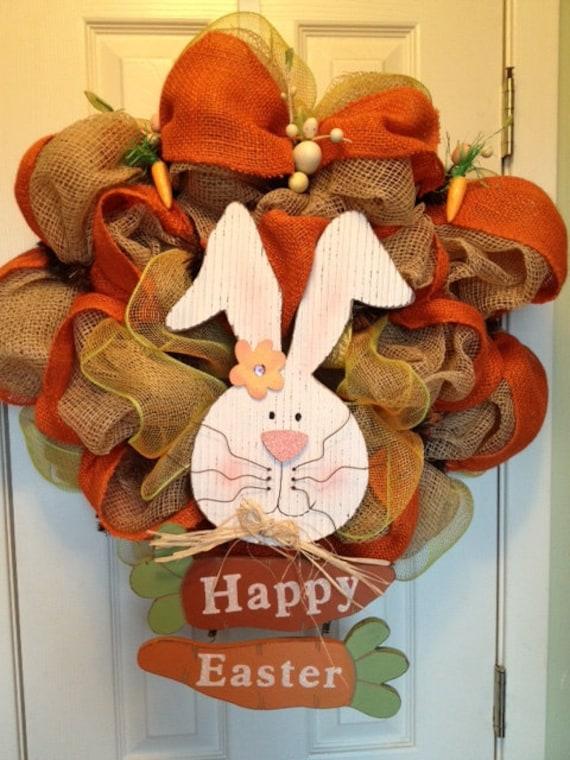Burlap Easter Wreath