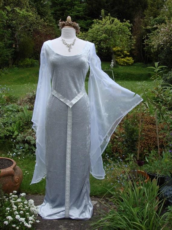 Silver Elven Galadriel Goddess Lotr Renaissance Medieval