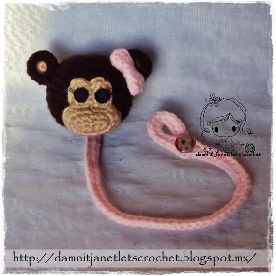Monkey Pacifier Holder PDF Crochet Pattern Instant