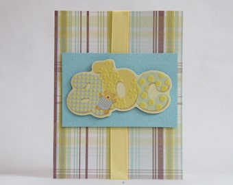 ABC Bear Baby Card