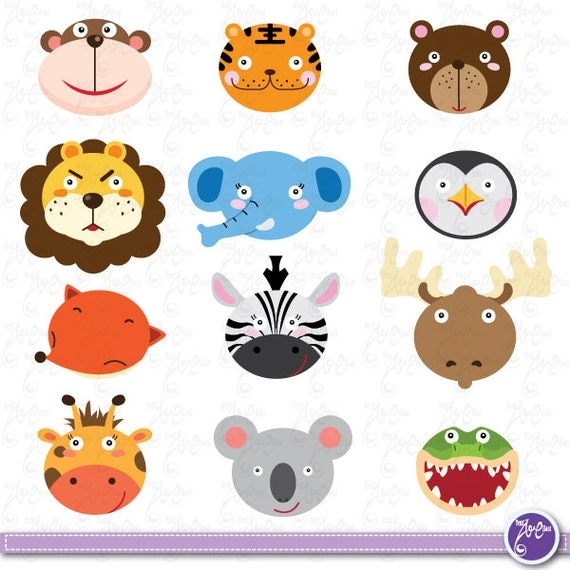 Wild Animals Clip Art, Cute animals, Jungle Animals, Zebra, tiger ...