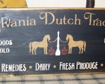 PENNSYLVANIA DUTCH TRADING Post Primitive Sign