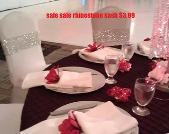 SALE SALE SALE  Bling Chair Cover Sash Unique Elegant. Will Bring a life to your wedding. Special event Bling/Rhinestone Sash