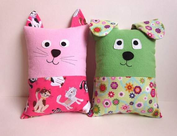 Sewing Pattern Cat Pillow: Dog & Cat Pillow Pattern Tutorial PDF Sewing Pattern with,