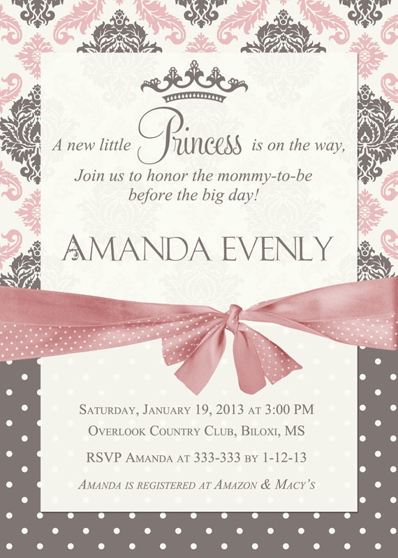 Pink And Gold Baby Shower Invitation Pink Black Gold Glitter